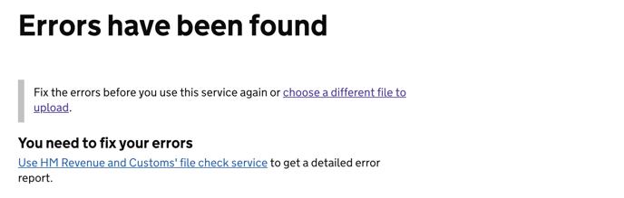 Errors found-1