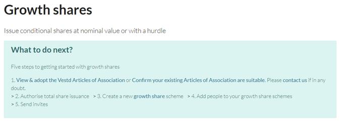 Growth share tasks