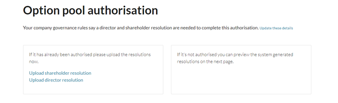 How do I authorise an EMI option pool 4