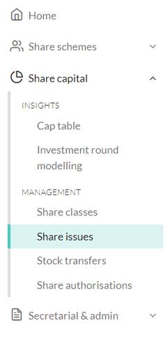 How do I distribute shares 1