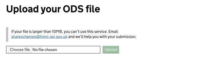 Upload your ODS
